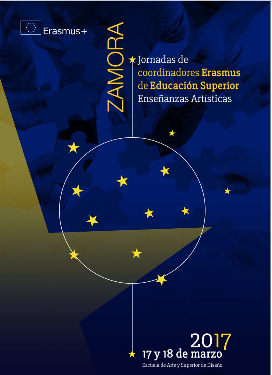 Jornadas Erasmus de Educación Superior en Enseñanzas Artísticas 2017 página web