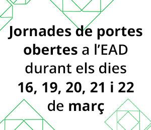 Jornades de portes obertes durant els dies 16, 19, 20, 21 i 22 de Març