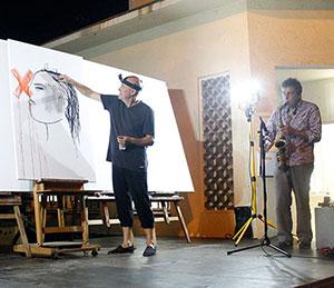 Joma, de performances de dibuix i concerts pictòrics