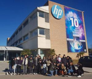 Visita a les instal·lacions d'HP